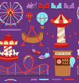 carousels amusement attraction side-show kids park vector image