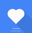 Heart web icon Flat design vector image
