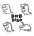 little dino set vector image