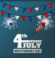 4th july independence day garland fireworks vector image