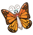 a happy butterfly character vector image