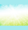 abstract green blue sky ray background vector image vector image