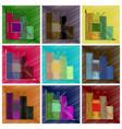 assembly flat shading style icon nanotechnology vector image vector image