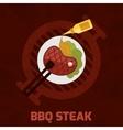 Bbq Steak Poster vector image vector image
