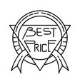 best price icon doodle hand drawn or outline icon vector image