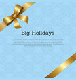 big holidays promo poster text decorated vector image vector image