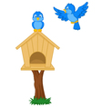 Birds and bird houses vector image vector image