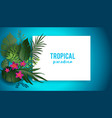 blue lagoon poster vector image vector image