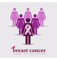 Breast cancer awareness design of pink women vector image vector image