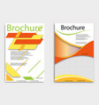 brochure flyer design layout template size a4 vector image vector image