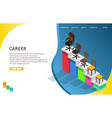 business career landing page website template vector image