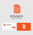 business logo template for bill excel file vector image