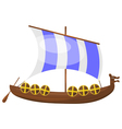Cartoon Viking ship eps10 vector image vector image