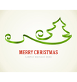 Christmas green tree from ribbon background vector image vector image