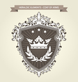 coat arms - medieval heraldry shield and crown vector image vector image