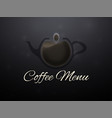coffee horizontal banner vector image