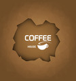 Coffee house background coffee cup trendy style vector image vector image