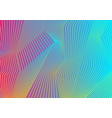 colorful curved lines pattern design vector image