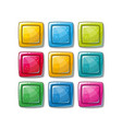 colorful glossy shapes icons set isolated vector image vector image