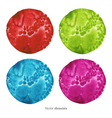 Colorful watercolor circles eps 8 vector image vector image