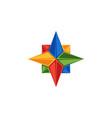 compass logo rose wind emblem directions vector image vector image