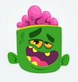 cool zombie head cartoon vector image vector image