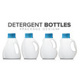 detergent bottle set realistic mock up vector image vector image