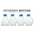 detergent bottle set realistic mock up vector image