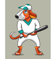 Dog the baseball player vector image