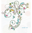 doodles floral background vector image vector image