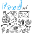 doodlfood vector image vector image