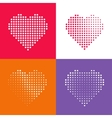 Dotted heart vecot pattern vector image vector image