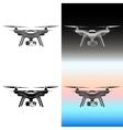 drone quadrocopter aerial icon set vector image