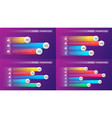 easy editable 3 4 5 6 options infographic vector image vector image