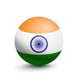 flag of india in the form of a ball vector image vector image
