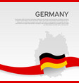 germany wavy flag and mosaic map on white vector image vector image