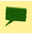Green grass square speech bubble Summer and vector image