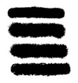 grunge brush strokes collection vector image vector image