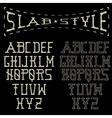 grunge slab style alphabet vector image vector image