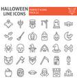 halloween line icon set horror symbols collection vector image vector image