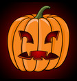 halloween pumpkin hand drawn colored sketch vector image vector image