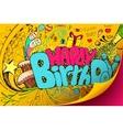 Happy Birthday Doodle vector image