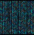 herringbone pattern colorful hand drawn seamless vector image vector image