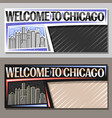 horizontal layouts for chicago vector image