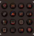 hosting provider icons set vector image vector image
