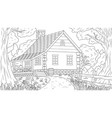 house in forest thicket vector image vector image
