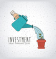 investment ideas and profit design vector image