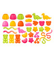 jelly gum candy sweets set realistic creative vector image vector image