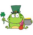 Leprechaun Frog vector image vector image