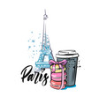 macaroon and coffee in paris vector image